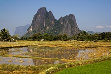 Gold Mountain in Muang Fuang District, Vientiane Province, Laos.jpg