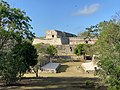 Governor's Palace (Palacio del Gobernador), Casa de las Tortugas, and the Ball Court, Zona Arqueológica de Uxmal, Yucatan, Mexico.jpg