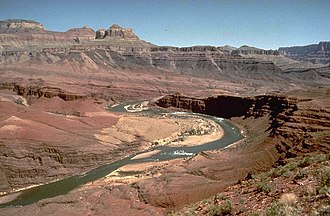 Geology of the Grand Canyon area - The Cardenas Basalt was laid on top of the rest of the Grand Canyon Supergroup