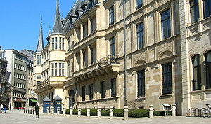 Grand Ducal Palace, Luxembourg - The façade of the Grand Ducal Palace