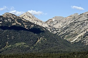Open Canyon - Open Canyon and Mount Hunt at left