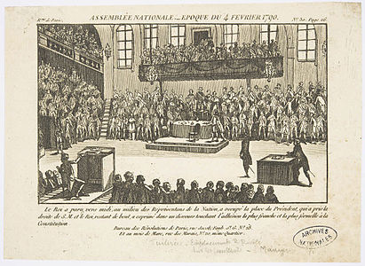 Gravure Assemblee nationale, epoque du 4 fevrier 1790 1 - Archives Nationales - AE-II-3878.jpg