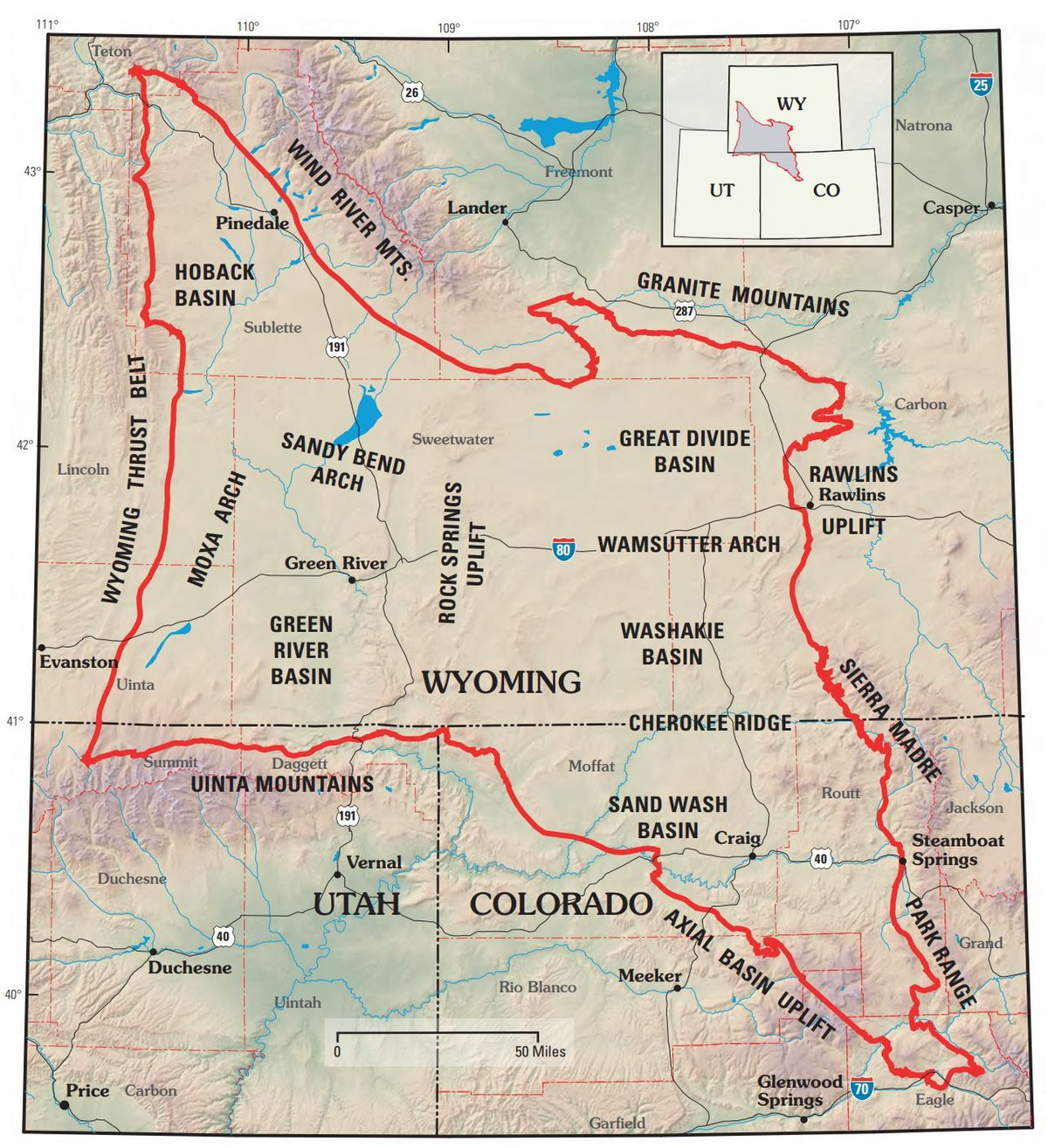 Green River Wyoming Map Greater Green River Basin   Wikipedia