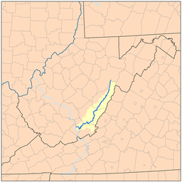 Greenbrier River Wikipedia - West virginia rivers map