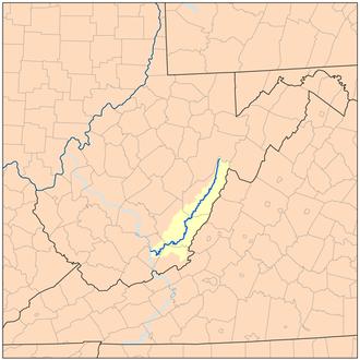 Greenbrier River - Image: Greenbrierrivermap