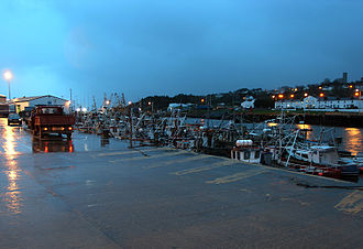 Greencastle, County Donegal - Greencastle Pier at dusk