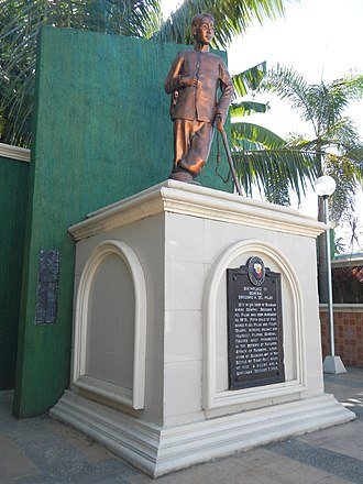 "Gregorio del Pilar - Birthplace of Gen. Gregorio H. del Pilar historical marker and monument, San Jose, Bulakan, Bulacan. The site where he was born on November 14, 1875 (""A soldier and gentleman"")."