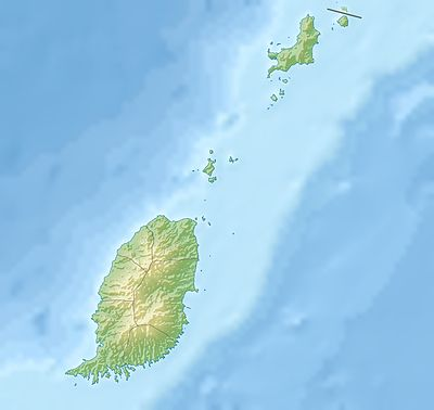 Location map Grenada