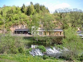 Große Mühl bei Neufelden (Bahnhof im Hintergrund)