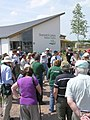 Group talk outside the Stanwick Lakes Visitor Centre - June 2009 - panoramio.jpg
