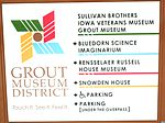 Grout Museum District sign Waterloo IA pic1