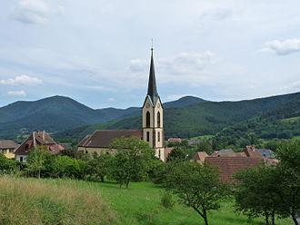 Gunsbach - The church of Gunsbach