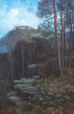 Gustave Doré-Mont Sainte-Odile avec mur païen