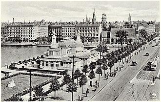 Gyldenløvesgade - Gyldenløvesgade in c. 1930