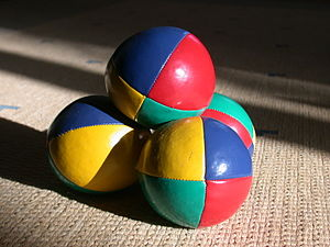 "Juggling ball - Vinyl ""beach"" beanbags"