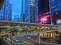 HK Central Connaught Road evening footbridge CMA HK Building Sept-2013.JPG