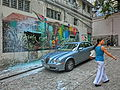 HK Sheung Wan Upper Station Street wall picture n Carpark n visitors 25-June-2013.JPG