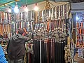 HK Yau Ma Tei 廟衙 夜市 攤販 Temple Street night 11 stall Apr-2013 belts.JPG