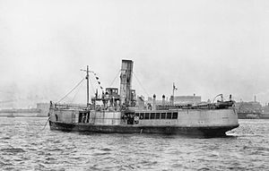 SS Royal Iris - Iris II returns to Liverpool after the Zeebrugge Raid