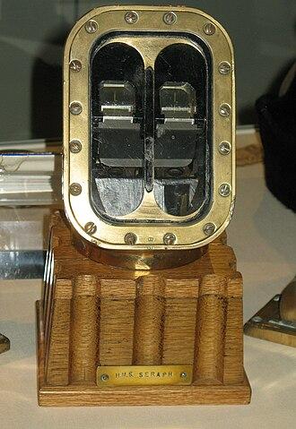 HMS Seraph (P219) - The head of HMS Seraph's Search (navigation) periscope