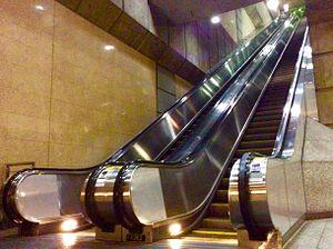 Wilshire/Vermont station - Image: HSY Los Angeles Metro, Wilshire Vermont, Escalator