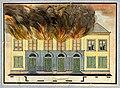 HUA-32463-Afbeelding van de voorgevel van de schouwburg op het Vredenburg te Utrecht tijdens de brand.jpg