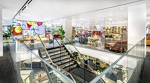 Habitat (retailer) - The re-designed interior of Habitat's flagship store on Tottenham Court Road, London. April 2016