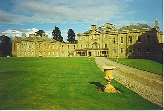 Haddo House - West front with chapel at extreme left