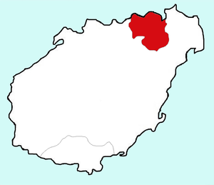 Location of Haikou Prefecture within Hainan