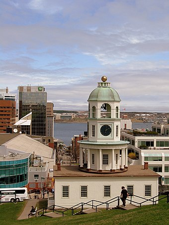 The Halifax Town Clock overlooks most of the structures in downtown Halifax. Halifax Town Clock - cdnav8r.jpg