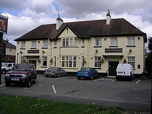English: Halleys Commet Public House. Although...