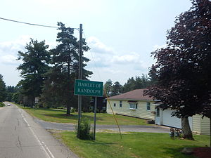 Randolph (CDP), New York - Signage along NY 241 for the hamlet of Randolph.