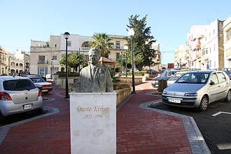Oreste Kirkop - Bust of Oreste Kirkop in Ħamrun, Malta.