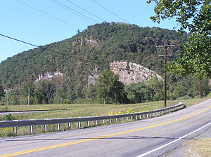 Mill Creek Mountain - Image: Hanging Rocks Wappocomo WV 2005 09 21 03