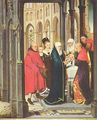 Portrait of a Young Girl (Christus) - Master of the Prado Adoration of the Magi, Presentation, c. 1470. National Gallery of Art, Washington