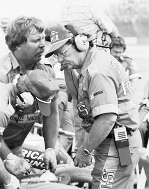 Harry Hyde - Hyde in 1985 as crew chief for Tim Richmond