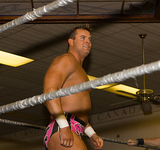 Stampede Wrestling - Hart family member Harry Smith at the Stampede Wrestling revival in 2011.