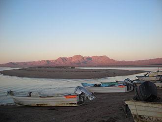 Tiburón Island - Early morning view of Hast Cacöla on Tiburón Island from Socaaix (Punta Chueca)