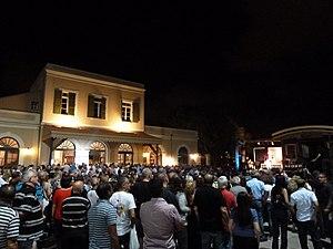 White Night festivals - Jaffa Railway Station on Tel Aviv's White Night, 2011