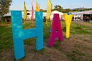 Hay Festival sign at the entrance