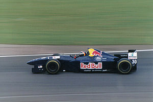 Sauber - Frentzen driving for Sauber at the 1995 British Grand Prix.