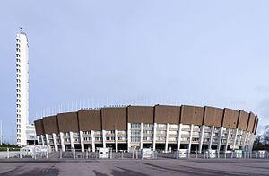 1957 Bandy World Championship - Image: Helsinki Olympic Stadium 7147