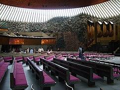 Helsinki Temppeliaukio Church inside 2006.jpg