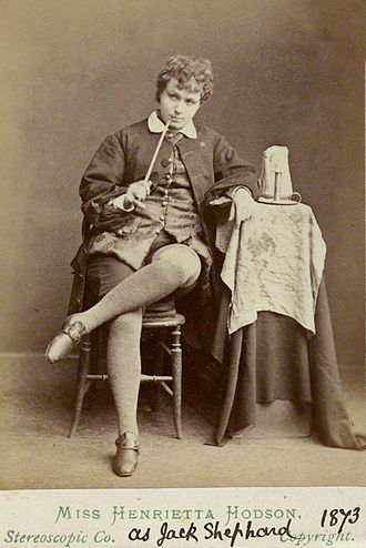 Henrietta Hodson - Hodson as Dick Wastrell (mislabelled) in Old London, an adaptation of Jack Sheppard, 1873