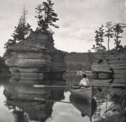 Sugar Bowl with Row Boat, Wisconsin Dells