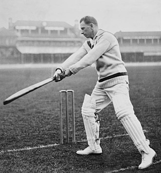 Herbie Taylor, whose career spanned 20 years and 42 Tests, was the first South African to reach the landmark of 2,500 Test runs at an average of 40.77. He was the mainstay of the South African batting as well as one of the leading batsmen in the world from his debut in 1912 until his retirement in 1932. He was an expert on the matting pitches that were prevalent in South Africa at the time and scored six of his seven centuries at home. His batting was also noted for quick footwork and exceptional 'back play'. Herbie Taylor 1924-04-29.jpg