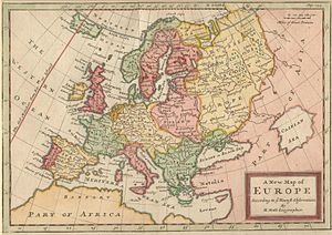 Herman Moll - A New Map of Europe According to the Newest Observations (1721).