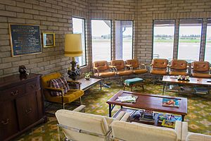 Hermiston Municipal Airport - The waiting room at Hermiston Municipal Airport has remained unchanged since the 1970s.