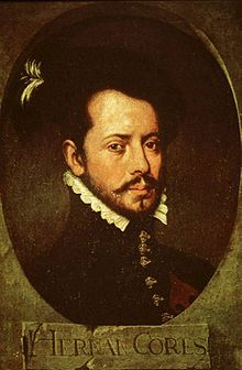Painting of Hernán Cortés