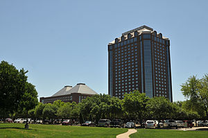Hilton Anatole - Hilton Anatole from the intersection of N. Stemmons Fwy and Wycliff Avenue